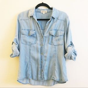 Anthropologie | Cloth & Stone Chambray Button Down